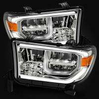Фары LED Tundra/Sequoia 2007-2013 дизайн рестайлинг 2018 хром